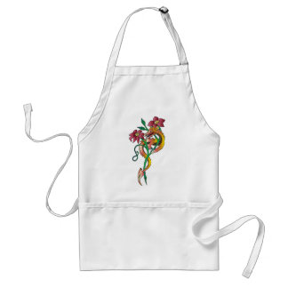 Dragon and Flower Tattoo Aprons