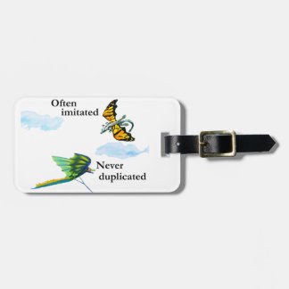 dragon and kite luggage tag