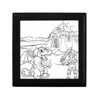 Dragon and Knight Castle Cartoon Gift Box
