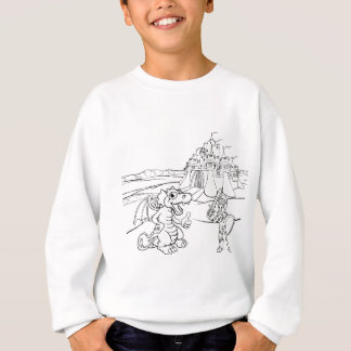 Dragon and Knight Castle Cartoon Sweatshirt