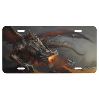 Dragon and Knight License Plate