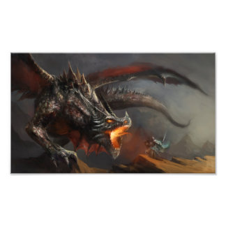 Dragon and Knight Photo Print