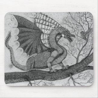 Dragon and Owl Mousepad
