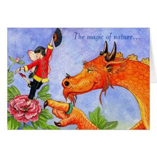 Dragon and Peony Fairy card