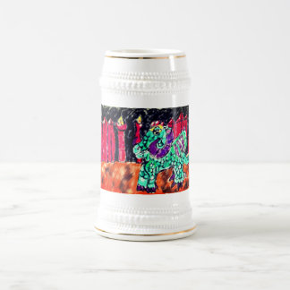 Dragon and Ruby Beer Stein