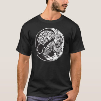 dragon and tiger yin yang symbol T-Shirt