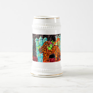 Dragon and Turquoise Beer Stein