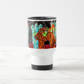 Dragon and Turquoise Travel Mug