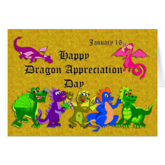 Dragon Appreciation Day January 16 Card