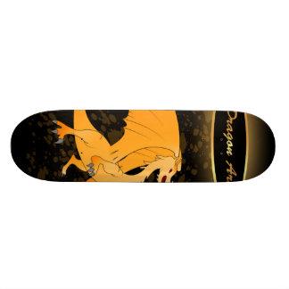 Dragon Art, Funny golden dragon Custom Skate Board