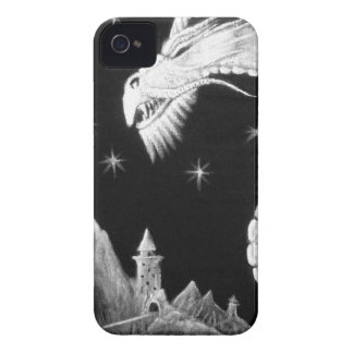 Dragon at Night Painting iPhone 4 Case