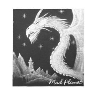 Dragon at Night Painting Notepad