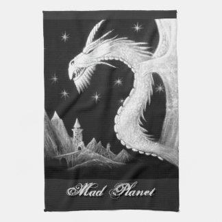 Dragon at Night Painting Towel