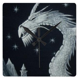 Dragon at Night Wall Clock