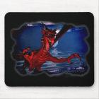 Dragon Attack 3D Fantasy Art Mouse Pad