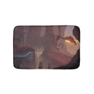 Dragon attack bath mat