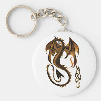 dragon basic round button key ring