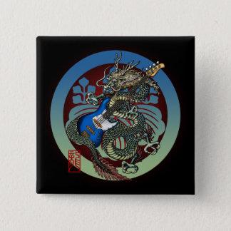 Dragon Bass 04 15 Cm Square Badge