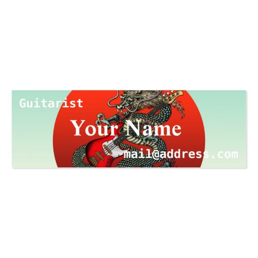 Dragon BassGuitar 01 Business Cards
