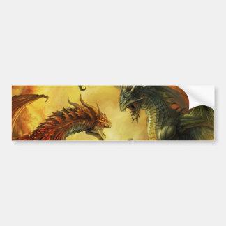 Dragon Battle Sticker Bumper Sticker