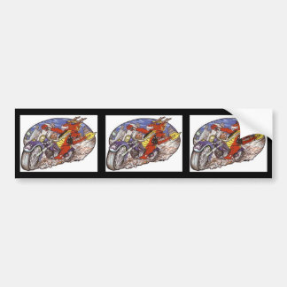 Dragon Biker Bumper Sticker