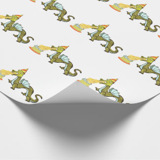 dragon birthday party ideas wrapping paper