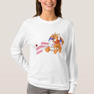 Dragon Birthday with Strawberry Cake Long Sleeve T-Shirt