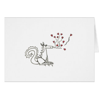 Dragon Blowing Hearts Card