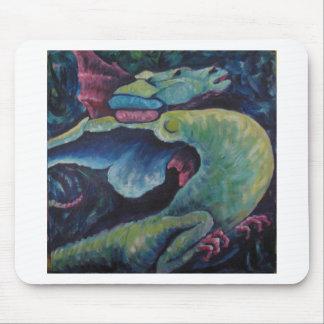 Dragon Bluegreen Mouse Pad