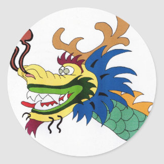 Dragon boat round sticker