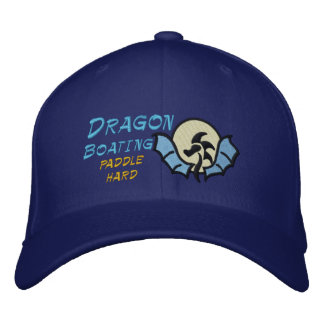 Dragon  Boating , paddle hard Embroidered Hat