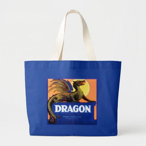 Dragon Brand Fruit Crate Label Canvas Bags