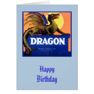 Dragon Brand Fruit Crate Label Greeting Card