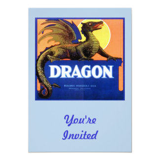 Dragon Brand Fruit Crate Label Personalized Invitations