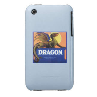 Dragon Brand Fruit Crate Label iPhone 3 Case