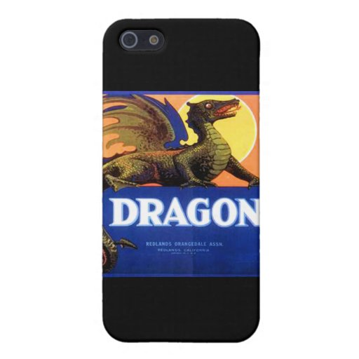 Dragon Brand Fruit Crate Label iPhone 5 Covers