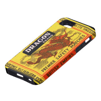 Dragon Brand Vintage Safety Match Label iPhone 5 Cases