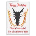 Dragon Breathing Fire Birthday card