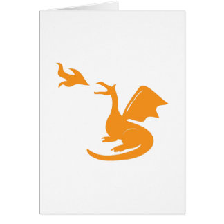 Dragon Breathing Fire Greeting Cards