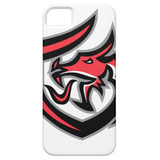 Dragon Breathing Fire Side Shield Retro Case For The iPhone 5