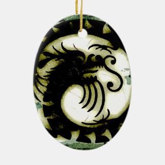 Dragon Ceramic Oval Decoration