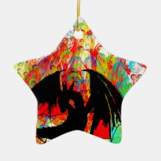 dragon ceramic star decoration