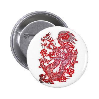 Dragon-Chinese Zodiac/ 6 Cm Round Badge