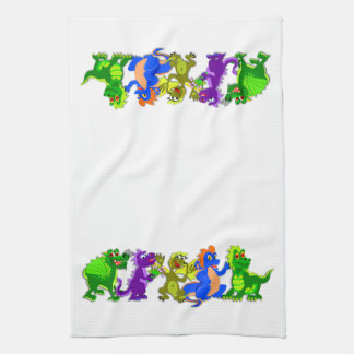 Dragon Chorus Line Tea Towel