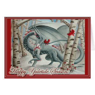 Dragon Christmas Yule card