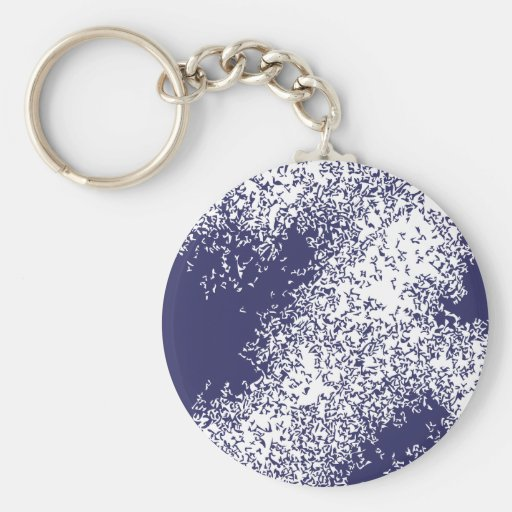 Dragon Clouds 04 in blue Key Chain