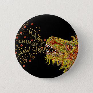 Dragon CNY Chinese New Year 6 Cm Round Badge