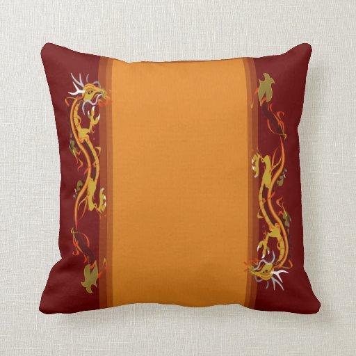 Dragon Collage (Customizable) Throw Pillow