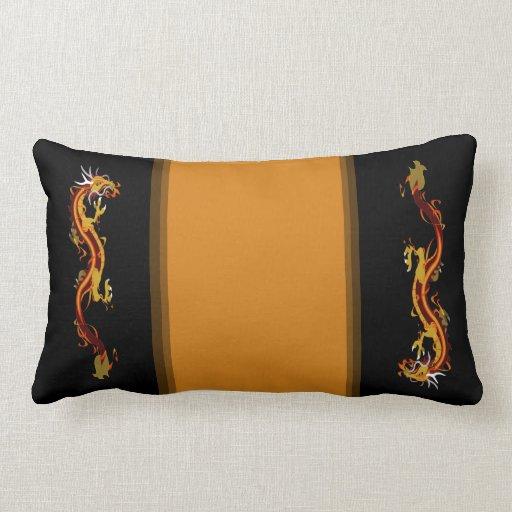 Dragon Collage (Customizable) Throw Pillows