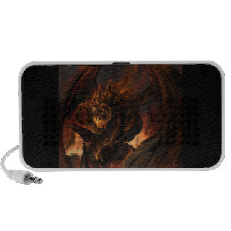 Dragon Created From Flames Notebook Speakers